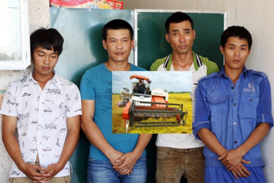 Hội Nông dân tỉnh biểu dương công an tóm gọn nhóm bảo kê tiền gặt lúa của nông dân