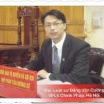:   Thạc sĩ, Ls Đặng Văn Cường